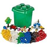 Ultrakidz Set di mattoncini base, 606 mattoncini a incastro in dimensioni e colori classici – i mattoncini sono forniti in un solido contenitore con coperchio, compatibili con mattoncini Lego