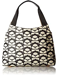 Orla Kiely Charcoal Spring Bloom Classic Zip Shoulder Bag