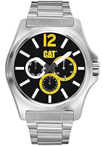 CAT - PK.149.11.137 - Montre Homme - Quartz - Analogique - Bracelet Acier Inoxydable Argent