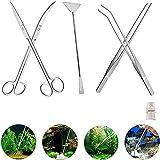Signstek 5 in 1 in acciaio inox carro armato piante acquatiche pinzette Scissor spatola attrezzo del Acquari e pesci Starter Kit per l'acquario Landscaping
