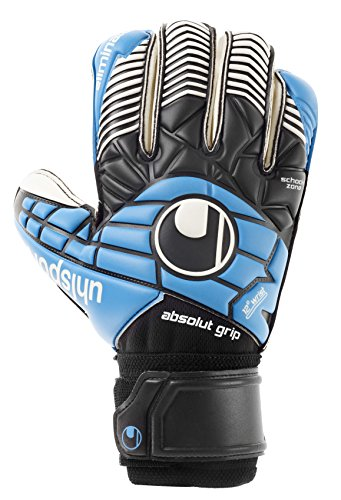 Uhlsport Eliminator Absolutgrip RF guanti, Unisex, Handschuhe ELIMINATOR ABSOLUTGRIP RF, schwarz/Cyan/Weiß, 8.5