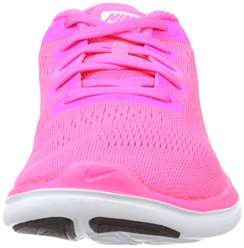 Nike Flex 2016 Rn (Gs), Chaussures de Course Fille Rosa (Pink Blast / Metallic Silver-Black)