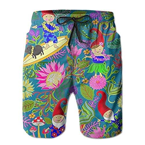 IconSymbol Die Strandhosen der neuen hawaiischen Gartenzwerge-Männer, Kurze Badehose der kurzen Strand-Badehose - Herren Carpenter Jeans Kurze
