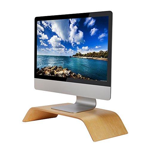 Samdi Computer Bildschirm Schutzhülle Ständer, Holz Laptop Notebook Monitor Desktop Ständer Riser Halterung für Apple MacBook Air Pro iMac LCD Monitor PC TV Drucker (Lcd-desktop-ständer)