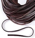 Lederband, Lederriemen 5 m. Breite 9-10 mm. Dicke 2,5 mm. Braun