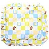 GoodStart Square Shape Imported Cotton Made Premium Newborn Baby Head Shaping Pillow With Mustard Seeds/baby Rai Pillow/Rai Seed Pouch & Baby Neck Support Pillow In Animal & Cartoon Print, With Detachable Seeds Bag For 0-1 Years In Light Blue &amp