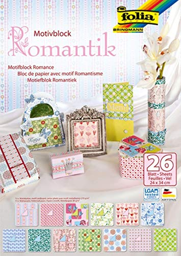 Bringmann Motivblock ROMANTIK 24x34cm, 26 Blatt sortiert