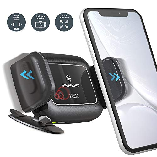 Sinjimoru Automatische KFZ Handyhalterung fürs Armaturenbrett, Einfache Bedienung, Klein & Modern für alle Autos, Smartphone Halter mit Infrarot-Sensor. O-Grab Mini, Basis Paket. -