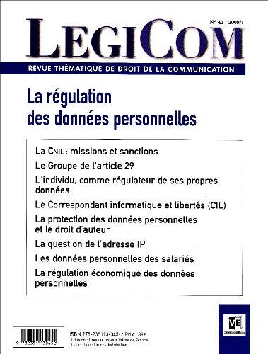 Legicom, N° 42 : La régulation des données personnelles