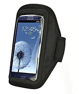 SAVFY For Samsung Galaxy i9300 S3 III Comfortable Soft Sports Gym Jogging Armband with Adjustable Strap (Traditional Version, New Arrival Black)