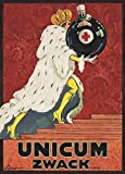 Vintage Beers, Wines and Spirits UNICUM ZWACK, Hungary, 1918 by Mihaly Biro. 250gsm Gloss Art Card A3 Reproduction Poster