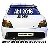 Abi 2016 | 2017... usw. .. Autotattoo Heckscheibe Aufkleber decal Weiß Size1 2018