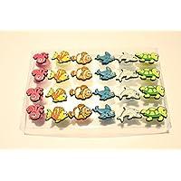 Kreisel in Neon-Farben 40 mm Smile-Design Bodenkreisel Spielzeug Mitgebsel Großhandel & Sonderposten