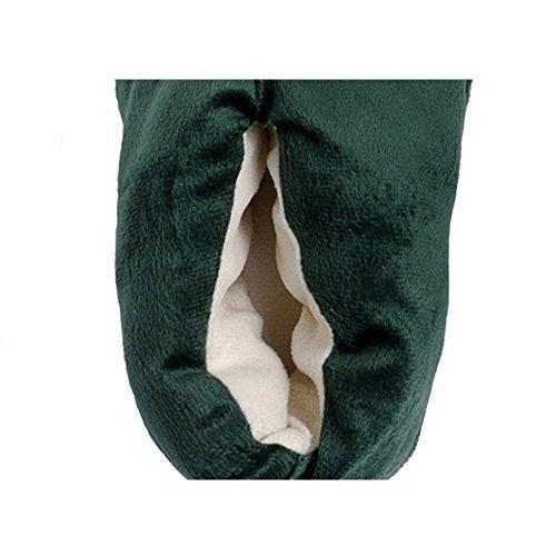 AIZHE  Animal Slippers,  Damen Herren Flache Hausschuhe Grün