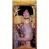 Cuadro sobre lienzo 40 x 80 cm: Judith and Holofernes de Gustav Klimt - cuadro terminado, cuadro sobre bastidor, lámina terminada sobre lienzo auténtico, impresión en lienzo