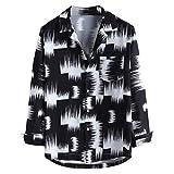 OUICE Homme T-Shirt Imprimé Gradient Col Montant Couleur Décontracté À Manches Longues Plage 2019 Chemise Vintage