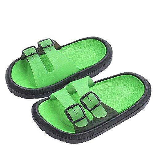 HCLKSTORE Toddler Little Kids Summer Sandals Non-Slip Boy Girl Lightweight Slide Beach Water Shoes Shower Pool Slippers for 1.5-6 Years