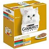 Gato Húmedo Gourmet Gold Doble Placer Pack Surtido 680 G