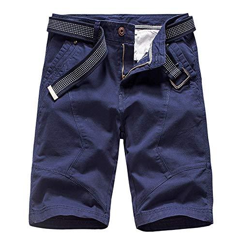 Aiserkly Herren Cargo Shorts Chino Hosen Gürtel Hose Arbeitshose Pocket Flachgewebe Hose Jogginghose Kampfhose Kurze Sommer Stoffhose