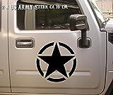 Auto und Motorrad Aufkleber Hotrod Stern Rat 2x ca 10cm Militärzeichen US Army
