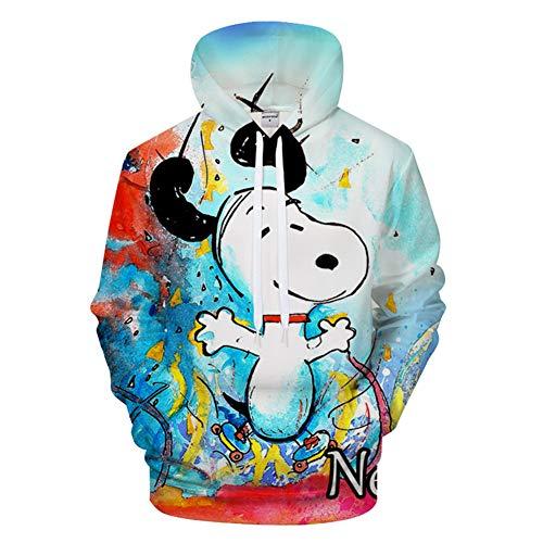 (RJHWY 3D Hoodie Sweatshirt Unisex Pullover Kapuzenjacke Kleidung Snoopy Mantel S)