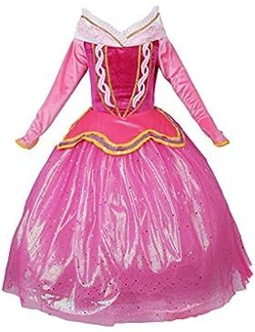 JerrisApparel Rosa Prinzessin Aurora Kleid Kostüm Mädchen Party Kleid