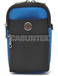Tradico® Sport Travel Casual Fanny Pack Belt Waist Shoulder Bag Cell Phone Case Blue