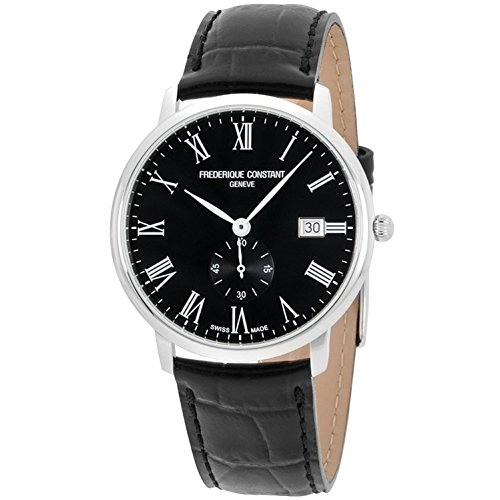 Frederique Constant Men' s 40 mm Black Leather Band quarzo Orologio fc-245br5s6