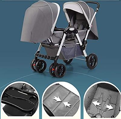 YVVY Carrito de bebé Doble, Carrito de Doble Cara, se Puede Llevar en reclinación, Ligero y fácil de Transportar, Apto para Edades de 6 a 12 Meses