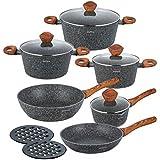 Marbre de 12pièces ensemble de casseroles Pot Kit harnais rouge KLAUS Montagne KO de 7242