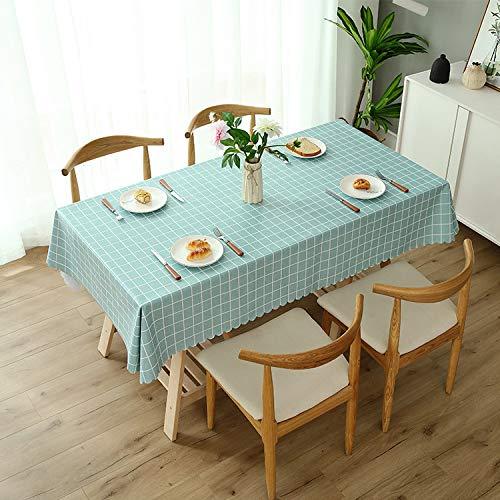 Wasserdichter Heimtisch Stoff PVC-Tisch Mit Heißer Tischmatte 100 * 160cm (geeignet für Couchtisch) PVC-Lake Blaue Mittlere Raster - Mittlere Rechteckige Couchtisch