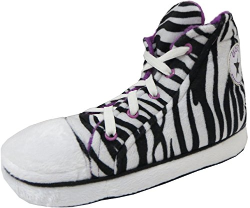 Sportschuhe für Herren und Damen Baseball-/Turnschuhe Tolle Geschenkidee, Weiß - White Zebra Fur Lined - Größe: 30 EU Kinder