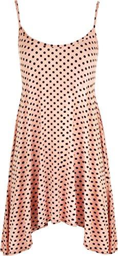 Fashion 4weniger Neue Damen Plus Größe Polka Dot Büstenhalter mit Trägern Cami Weste Top. UK 12–30 Rose