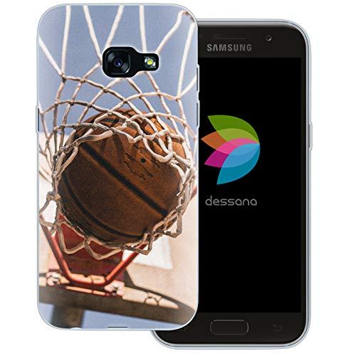 dessana Basketball Transparente Schutzhülle Handy Case Cover Tasche für Samsung Galaxy A3 (2017) Korbwurf Tor