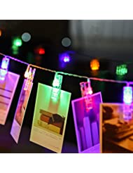 Foto Clips Lichterketten LED, 30 LED Foto Clips String/3.2M Foto Klipps Weihnachtsbeleuchtung/Wanddekoration Licht LED Clip/sternenlicht projektor-- Foto Clip für Party Deko, Garten Deko, Weihnachten, Hotel, Fest Deko, Geburtstag, Hockzeit