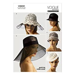 VOGUE PATTERNS V8891 Hats Sewing Template, All Sizes