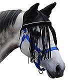 Derby weichem Nylon Mesh Fly Motorhaube Schleier für Pferde mit Ohren, Fransen, und reflektierender Rand–mehrere Farben–alle Größen