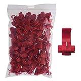 100 Stück Abzweigverbinder / Schnellverbinder / Stromdieb rot 0,5 -0,75qmm