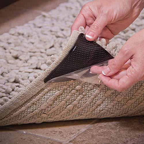 Yangshan 8pcs Teppich Grippers Teppich Gummi Anti-Rutsch-Pad mit starken klebrigen doppelseitigen Teppichband Anti-Rutsch-Teppich Grippers bunt -