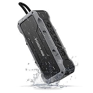 POWERADD 36W Bluetooth Lautsprecher mit 4 StereoTreibern (2X13W+2x5W) Wasserdicht IPX7 tragbare Lautsprecher Außen Bluetooth 4.2/AUX Lautsprecher mit 8000mAh Powerbank, bis zu 24 Stunden Spielzeit