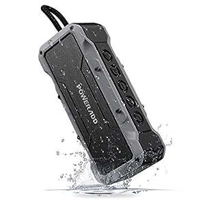 POWERADD Altoparlante Bluetooth Wireless Speaker Portatile con Audio Stereo 36W, Casse Portatile IPX7 a Prova di Urti e Polvere, Aux-in, Perfetto per Utilizzo All'aperto - Grigio