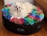 LunaChild Hunde Sofa Hundebett Hundekorb Wunschname Name Größe S M L oder XL in vielen Farben erhältlich