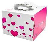 Set 2 Fashion Square Kuchen Boxes Geburtstagstorte Schachteln Papierschachtel He