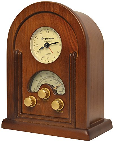 Roadstar HRA-1430 Retro Design UKW/MW Radio (Uhr, Alarm-Funktion) (Alarm-radio-bluetooth-uhr)