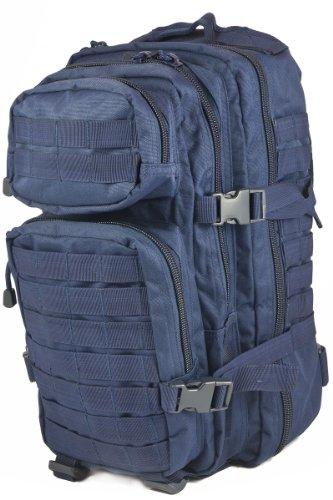 Mil-Tec Military Army Patrol MOLLE Assault Pack Tactical Combat Rucksack Backpack 30L Dark Navy Blue