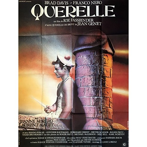 Price comparison product image Mauvais Genres QUERELLE Movie Poster - 47x63 in. - 1982 - R. W. Fassbinder, Brad Davis, X-rated