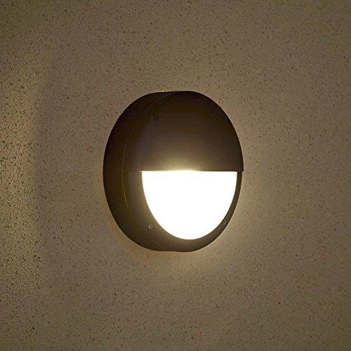 Biard® ARCHITECT - Applique Extérieure - LED Hublot - Luminaire Extérieure - Éclairage Jardin - 9W Équivalent 60W - Économe en Énergie - Design Inventif Demi-lune