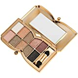 MagiDeal Women Girls Eye Makeup Professionals Home Salon Use 10 Colors Professional Diamond Eyeshadow Palette + Makeup Cosmetic Brush #6