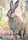 Hare Print Vintage Hare A4 210 x 297 mm Morena Artina