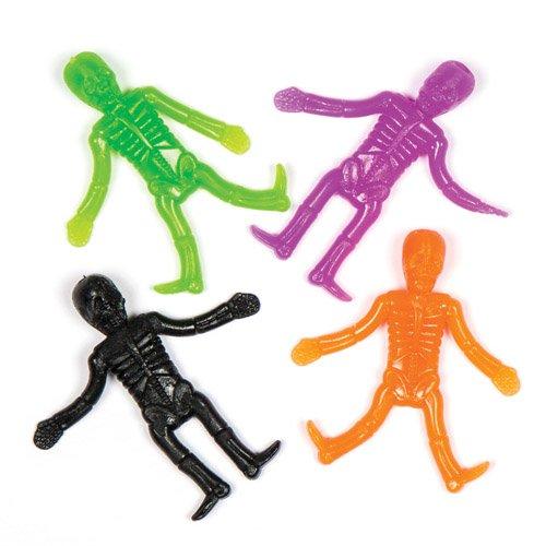 Baker Ross Squelettes Extensibles pour Enfant. À Glisser dans Les Pochettes-Surprises D'Halloween des Enfants (Lot DE 8).